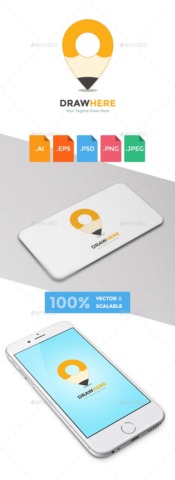 Draw Here Logo Template - Abstract Logo Templates