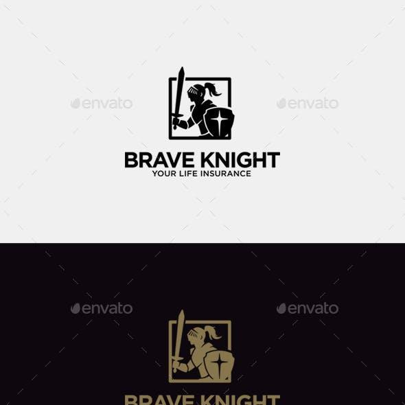 Brave Knight Logo Template