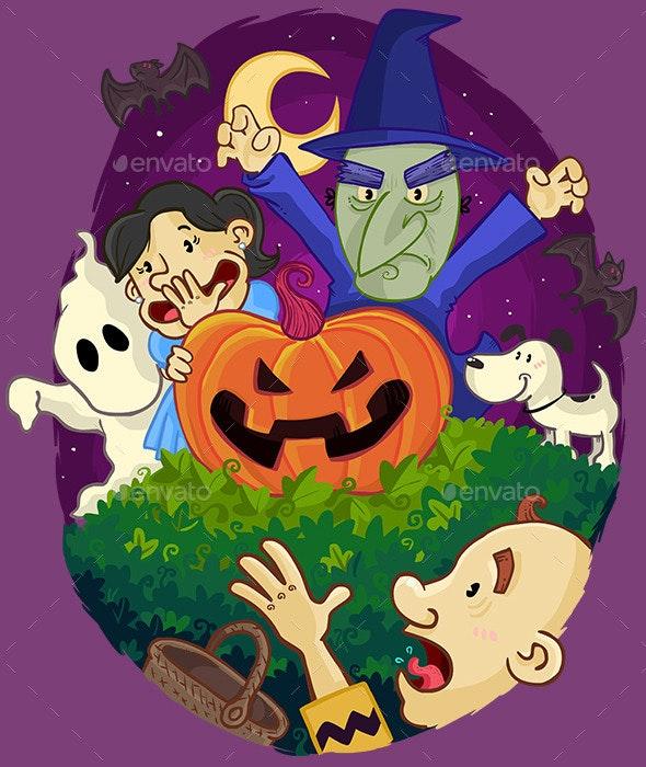 Great Pumpkin Halloween Card Illustration - Halloween Seasons/Holidays