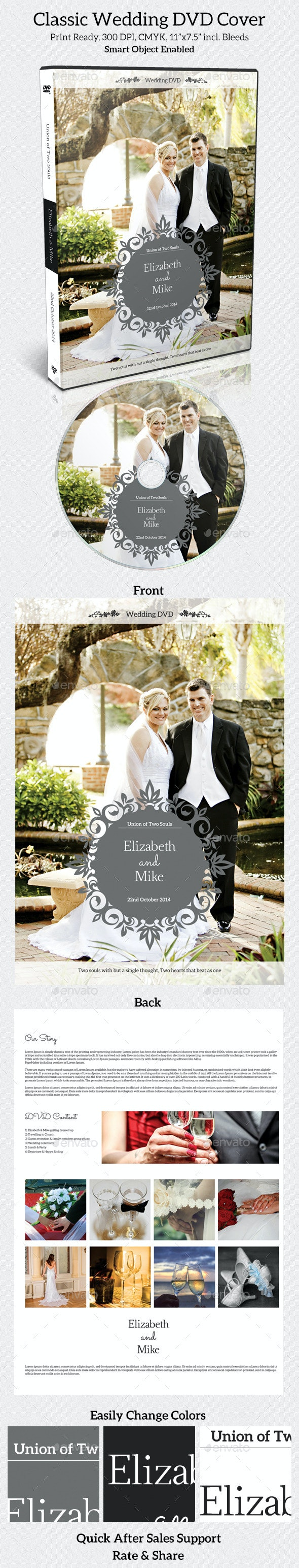 Classic Wedding DVD Cover - CD & DVD Artwork Print Templates