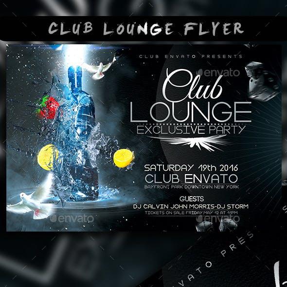 Club Lounge Flyer