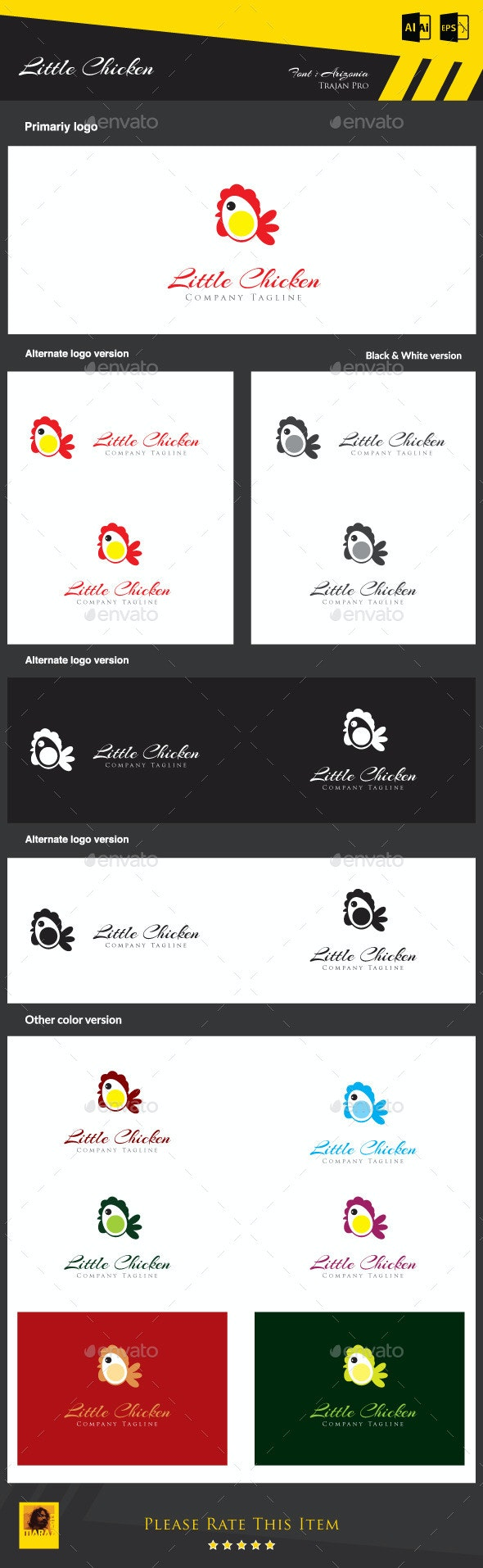 Little Chicken - Animals Logo Templates