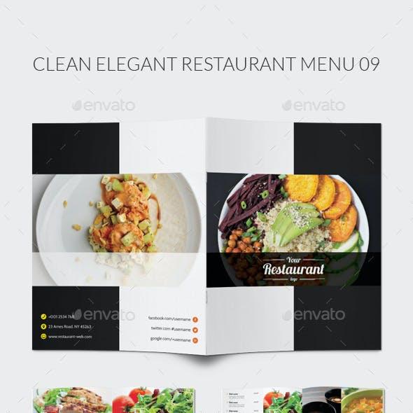Clean Elegant Restaurant Menu 09