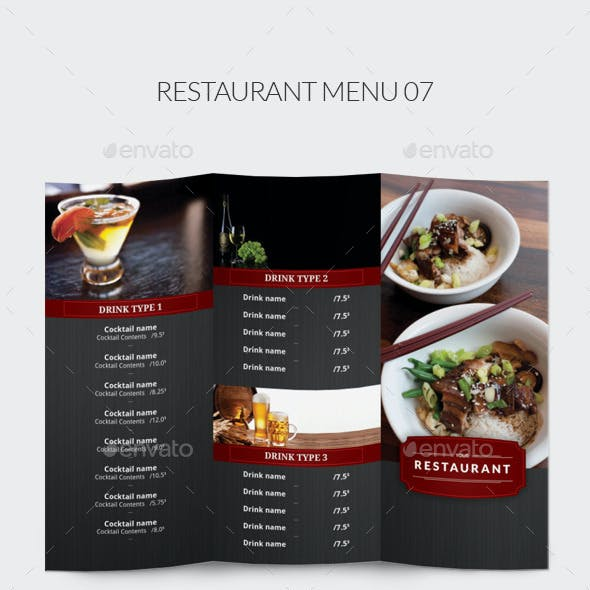 Restaurant Menu 07