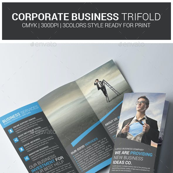 Business Trifold Brochure PSD Template