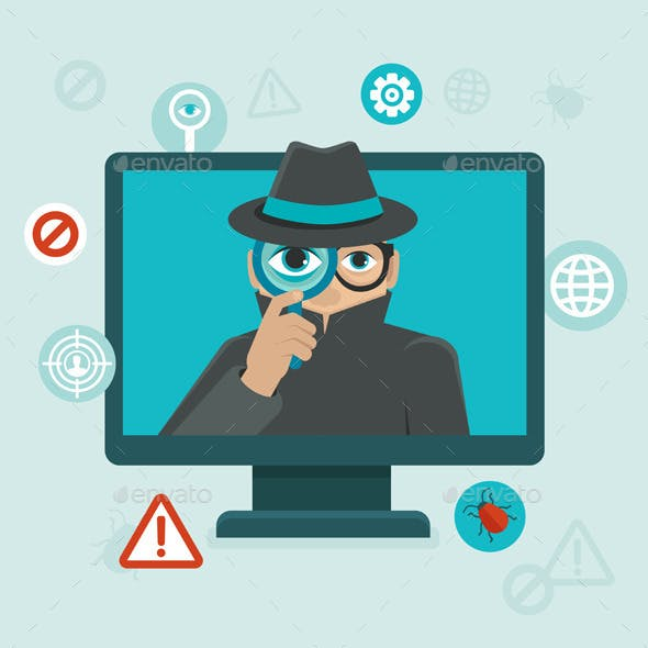 Internet security and spyware warning