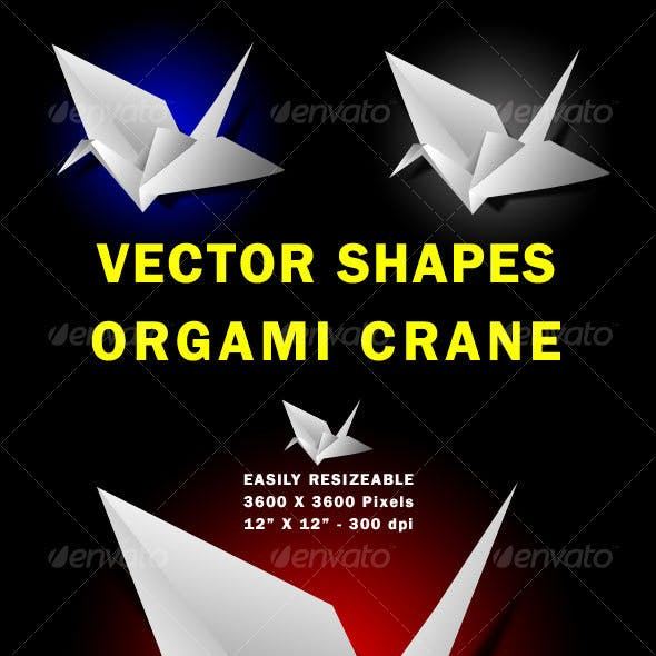 Vector Paper Crane