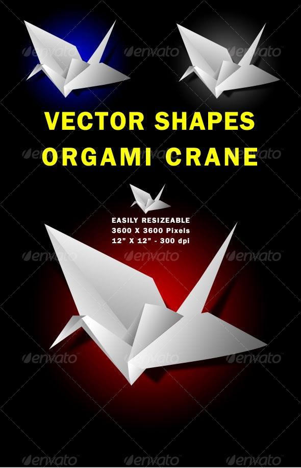 Vector Paper Crane - Characters Vectors
