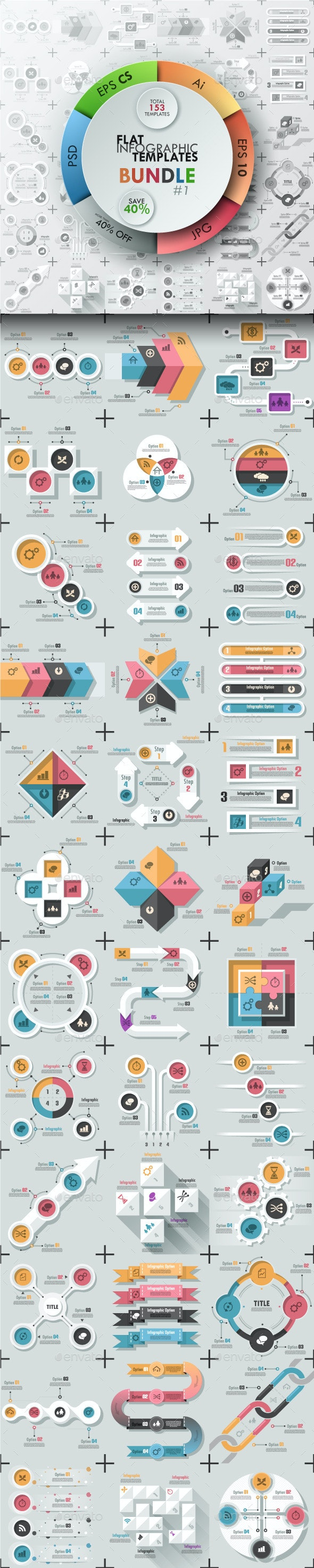 The First Bundle Of Infographics (Flat Templates) - Infographics