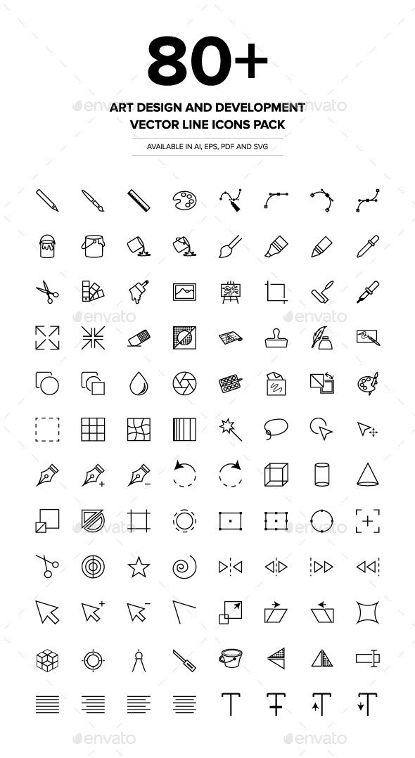 Art Design and Development Vector Icons - Icons