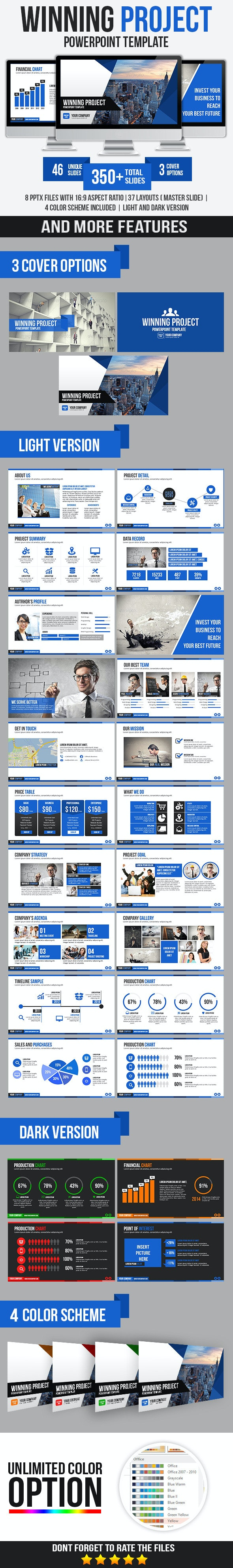 Winning Project PowerPoint Template - Business PowerPoint Templates