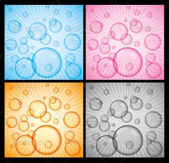 Vector Bubbles - Backgrounds Decorative