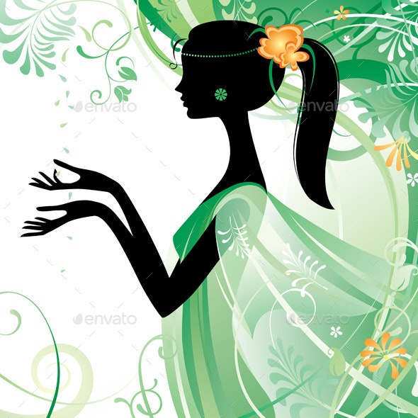 Girl in Green - People Characters