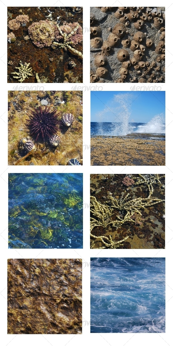 Ocean backgrounds 8 pack - Nature Textures
