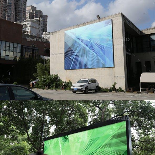 4 Outdoor Advertising Displays Mock-Ups