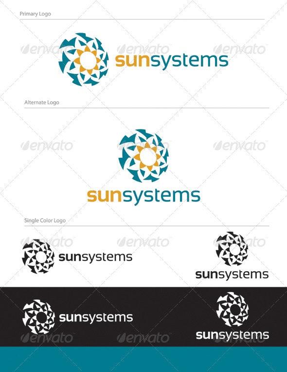 Sun Systems Logo Design - ABS-008 - Abstract Logo Templates