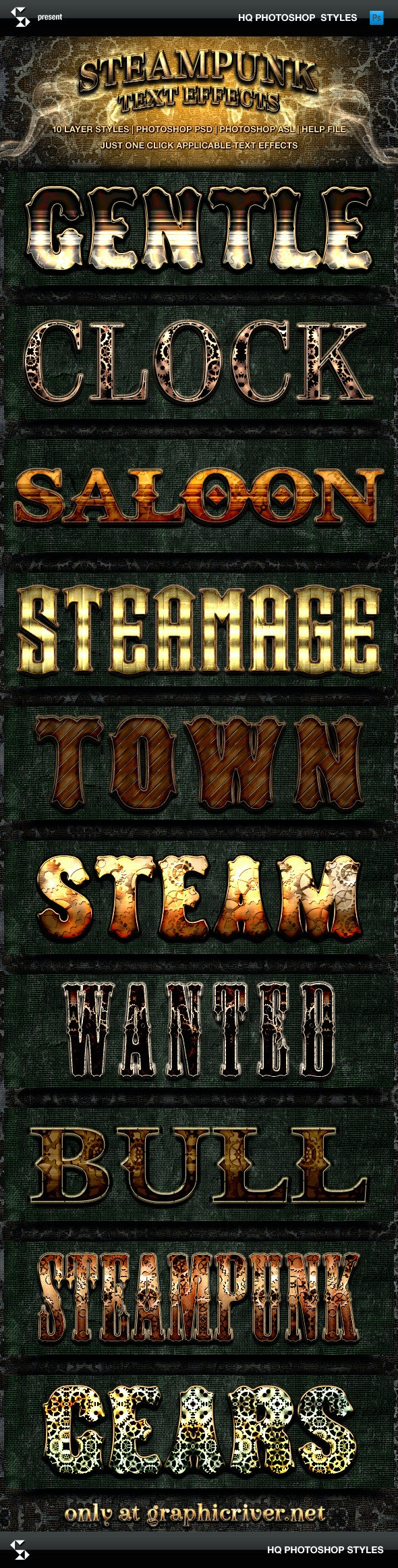 Steampunk Text Effects - Text Effects Styles