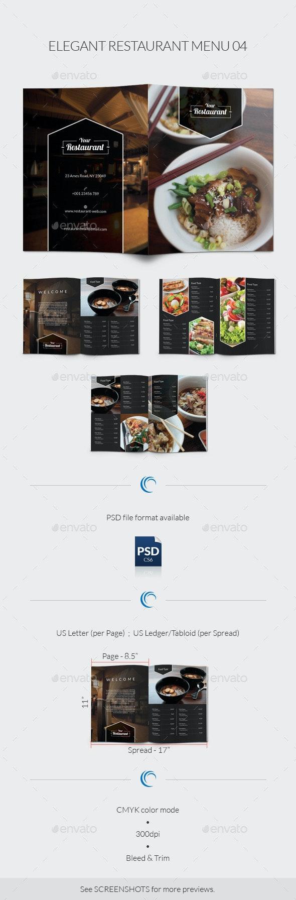 Elegant Restaurant Menu 04 - Food Menus Print Templates