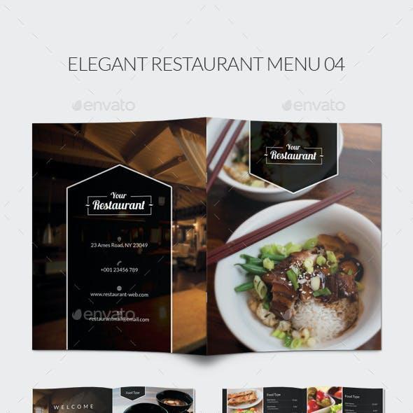 Elegant Restaurant Menu 04
