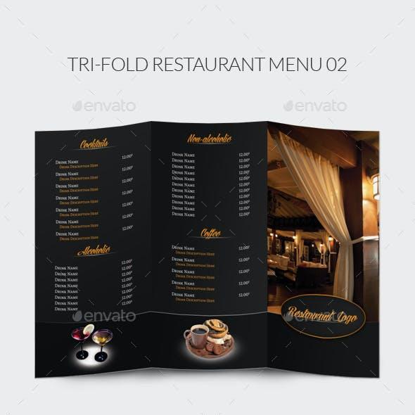 Tri-Fold Restaurant Menu 02