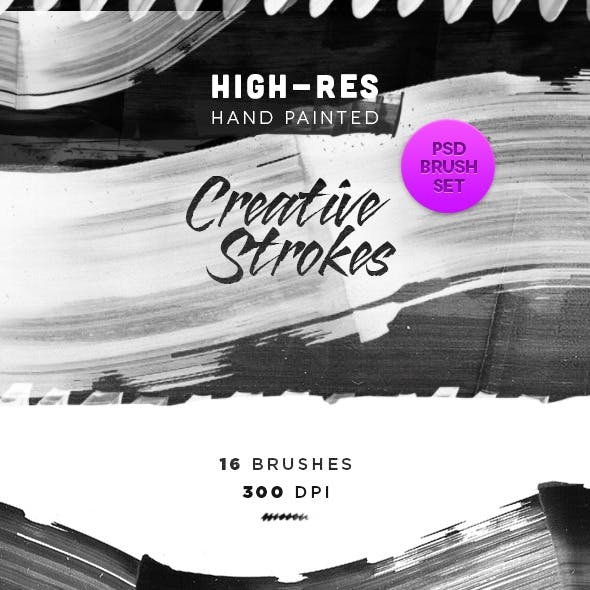 Creative Artistic Ink Brush Strokes