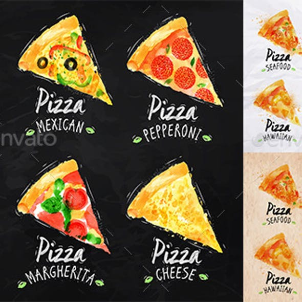 Set of Pizza Posters.