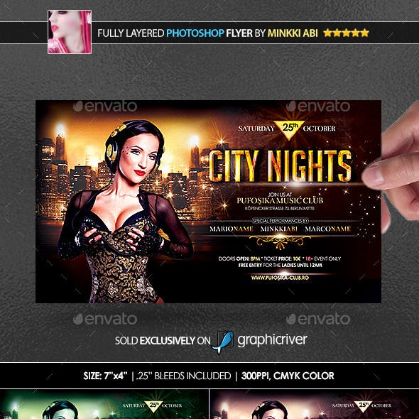 City Nights Poster/Flyer