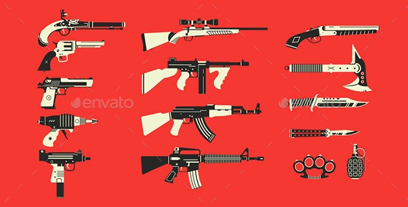 Choose Your Weapon - Objects Vectors
