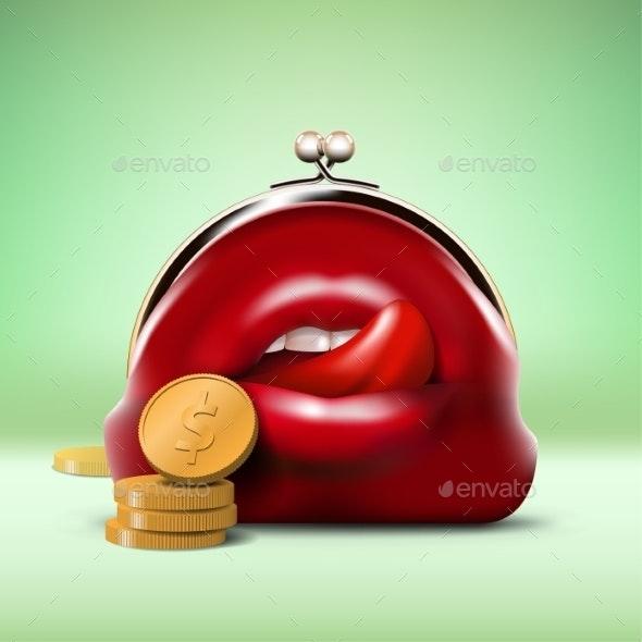 Predator Purse with Coins - Commercial / Shopping Conceptual