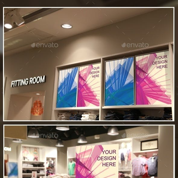 Clothing Store Posters/Tags Mockups