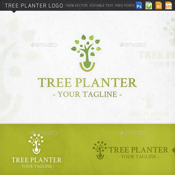 Tree Planter Logo Template