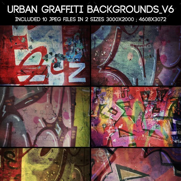 Urban Graffiti Backgrounds V6
