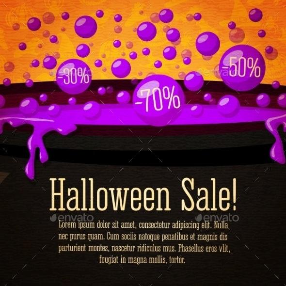 Happy Halloween Sale Banner on Craft Paper - Halloween Seasons/Holidays