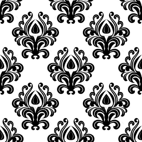 Floral Damask Pattern - Patterns Decorative
