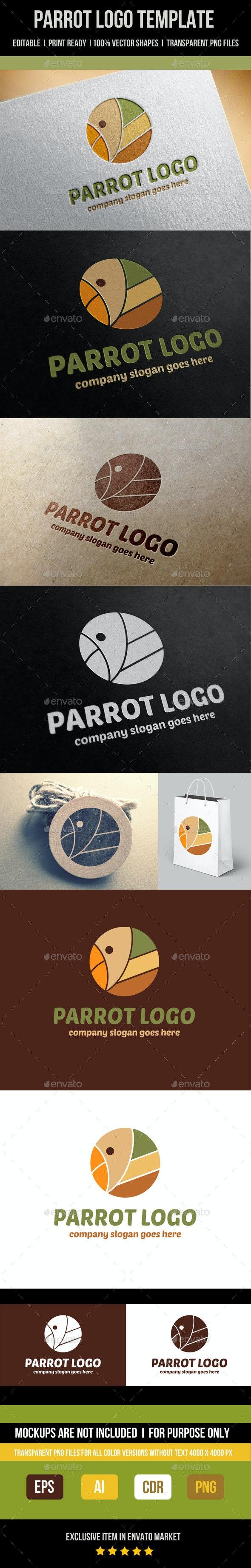 Parrot Logo Template - Abstract Logo Templates