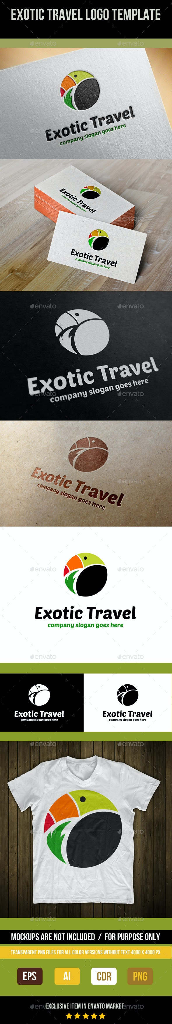 Exotic Travel Logo Template - Abstract Logo Templates