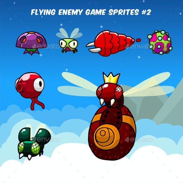 Flying Enemy Game Sprites #2