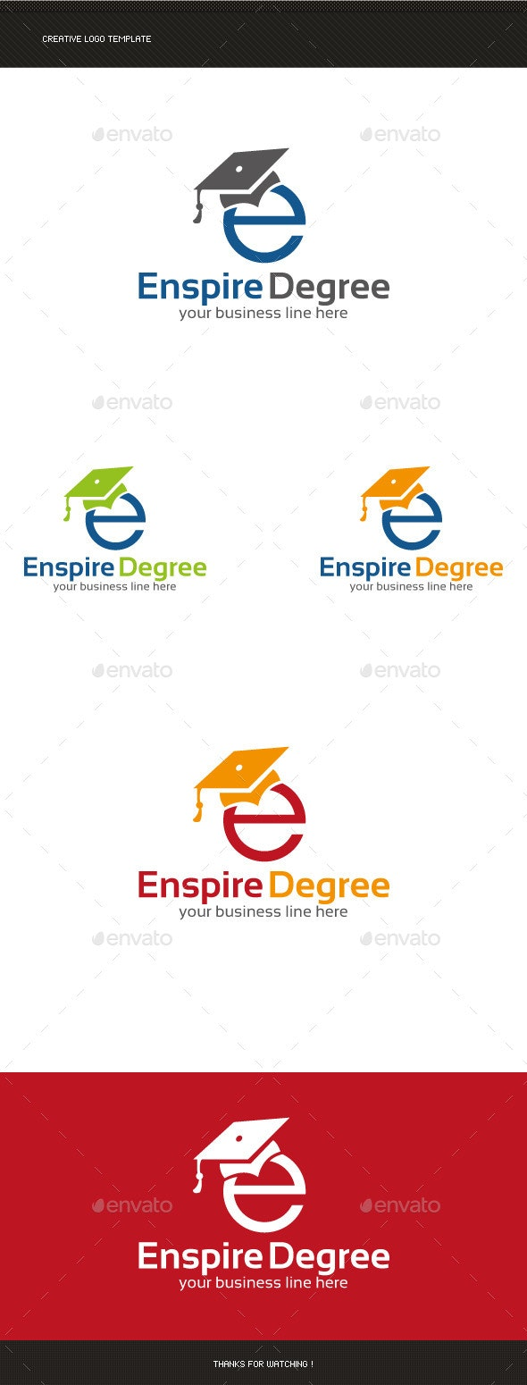 E Letter Education Logo - Letters Logo Templates