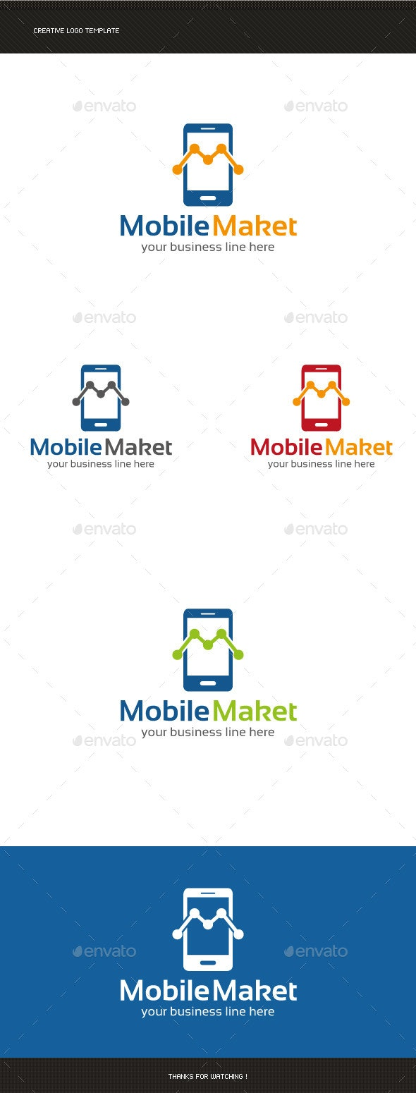 Mobile Marketing Logo Template - Letters Logo Templates