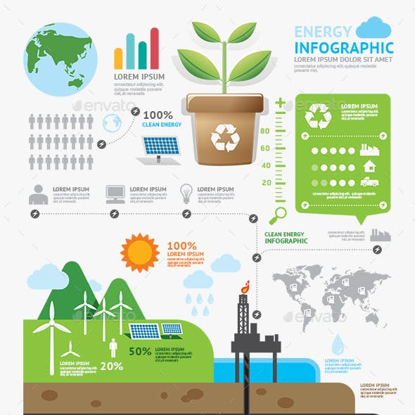 Infographic Energy Template Design