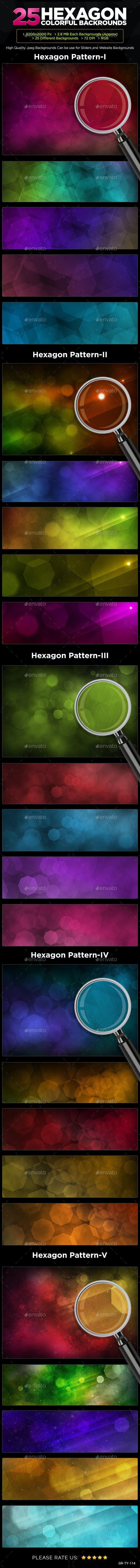 25 Hexagon Backgrounds - Backgrounds Graphics