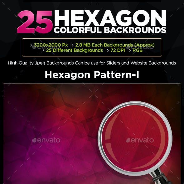 25 Hexagon Backgrounds