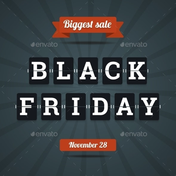 Black Friday Sale Illustration. - Commercial / Shopping Conceptual