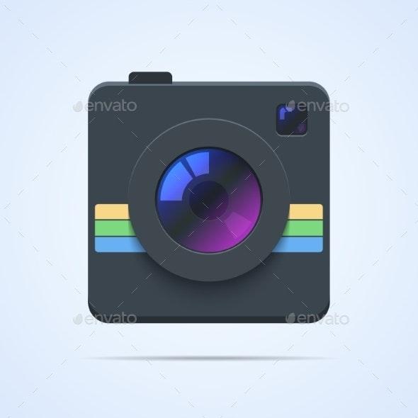 Camera Icon Illustration Isolated. - Web Elements Vectors