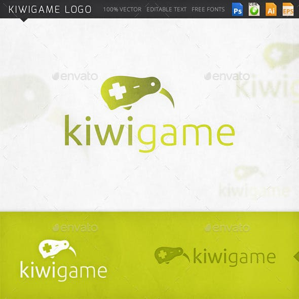 Kiwi Bird Controller Gamer Logo Template