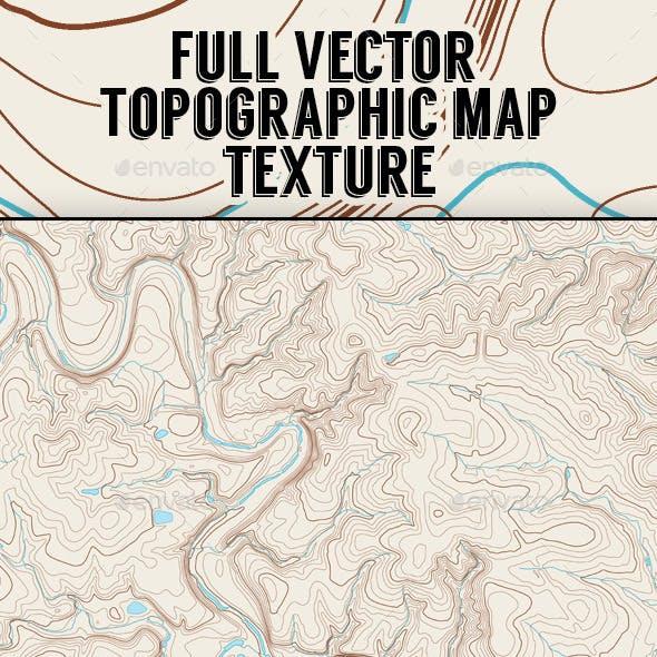 Vector Topographic Map