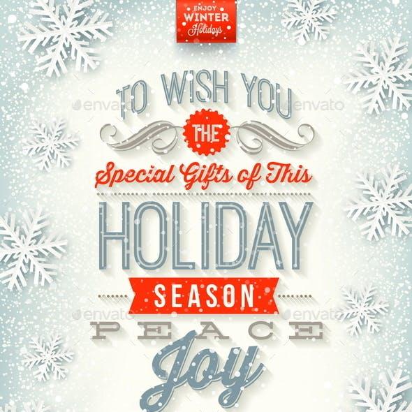Christmas Illustration - Holidays Type Design