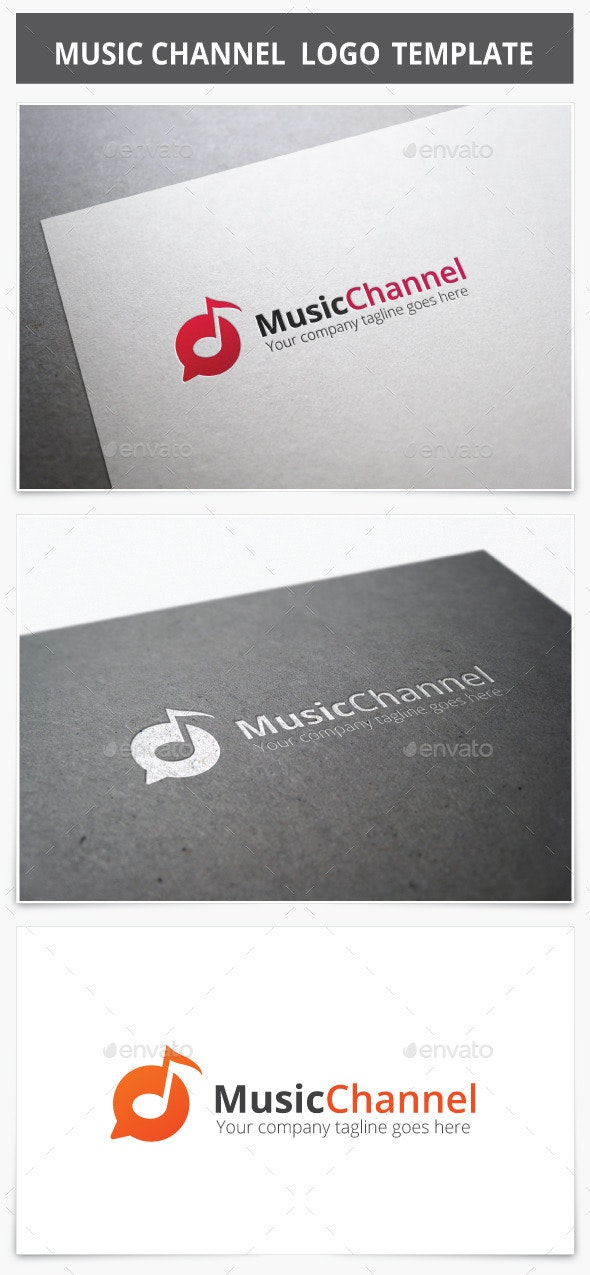 Music Channel Logo - Vector Abstract