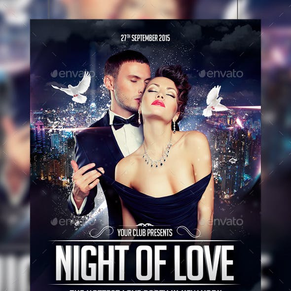 Night of Love Party Flyer Template