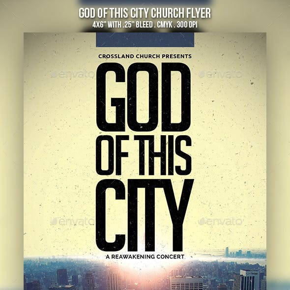 God of This City Church Flyer